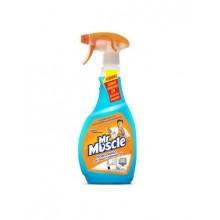 """Средство для мытья стекла """"Мистер Мускул"""", Голубой, со спиртом, распылитель, 500мл"""