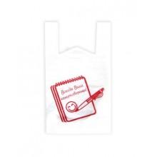 """Пакет с ручками """"Всегда Ваши Канцтоварищи"""", 400x650мм, 25мкм, белый"""