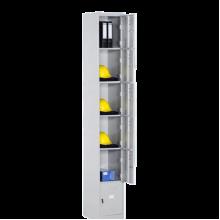 Металлический шкаф для вещей и одежды Локер LC 6, 6 ячеек