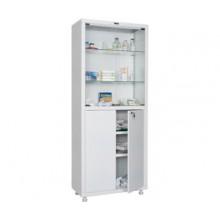 Медицинский шкаф Промет MED 2 1670/SG, 4 двери, 1 ключевой замок, 4 полки