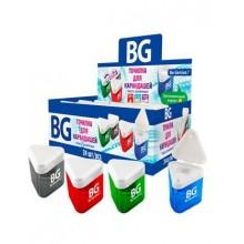 """Точилка пластиковая """"BG Delta"""", 1 отверстие, с контейнером, ассорти, 24шт в упаковке"""