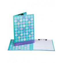 """Папка-планшет картонная """"Hatber"""", А4, металлический зажим, с крышкой, ламинация, серия """"Узор"""""""