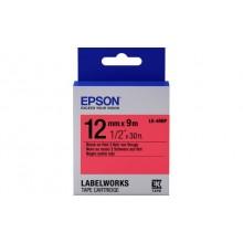 Лента Epson C53S654007 LC4RBP9 Пастельная лента 12мм, Красн./Черн., 9м