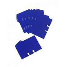 Алфавитный разделитель на кириллице для визитниц Durable 2416\/2417, голубой