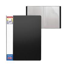 Папка файловая пластиковая, ErichKrause®, 46001, Classic Plus, c 10 карманами и карманом на корешке, A4, черный (в пакете по 4 шт.)