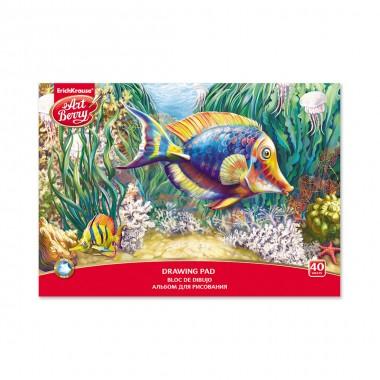 Альбом для рисования на клею, ArtBerry®, 040410112-46916, Подводный мир, А4, 40 листов