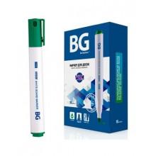 """Маркер для доски """"BG WBM"""", 3мм, круглый наконечник, зелёный, 10шт в упаковке"""