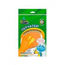 """Перчатки латексные """"CELESTA"""",  M- размер, оранжевые, 1 пара в упаковке (Эконом)"""