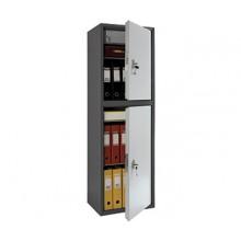 Бухгалтерский шкаф Практик SL-150/2Т, 2 ячейки с ключевыми замками, 3 полки и трейзером