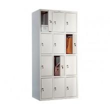 Металлический шкаф для вещей и одежды Практик LS-34, 12 ячеек