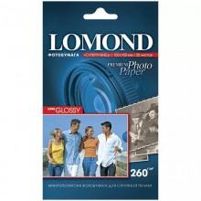 Фотобумага для струйной печати Lomond A6 /260 г/м2/ 20 листов. Суперглянцевая, микропористая
