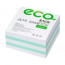 """Блок бумаги для заметок """"Hatber Eco"""", 9х9х4,5см, 2 цвета, сменный блок, в плёнке"""