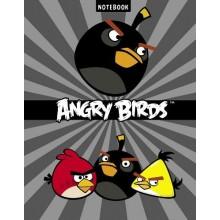 """Бизнес-блокнот """"Hatber"""", 80л, А5, клетка, 5 цветный блок, твёрдый переплёт, серия """"Angry Birds №4"""""""