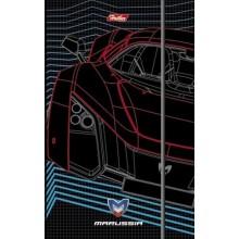 """Записная книжка """"Hatber"""", 80-40л, А6, клетка, твёрдая обложка, на гребне, клапан, серия """"Auto Marrus"""