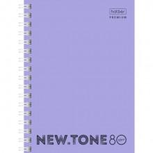 """Записная книжка """"Hatber Premium"""", 80л, А6, клетка, обложка пластик, на гребне, серия """"NT Pastel - Ла"""