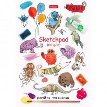 """Блокнот-SketchPad """"Hatber Premium"""", 40л, А5, без линовки, отрывная склейка, серия """"Рисуй"""""""