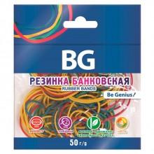 """Банковская резинка для денег """"BG"""", 50гр, 60мм, цветная, в пакете"""