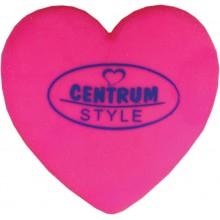 """Ластик из синтетического каучука """"Centrum Style"""", 90x60x8мм, сердечко, розовый, в пакете"""