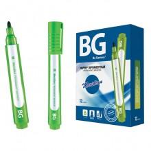 """Маркер перманентный """"BG Meridian"""", 2-3мм, круглый наконечник, зелёный, 12шт в упаковке"""