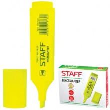 """Текстовыделитель """"Staff"""", 1-5мм, скошенный наконечник, жёлтый, 12 штук в упаковке"""