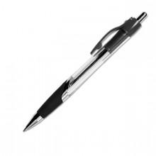 """Ручка шариковая автоматическая """"Berlingo Blues"""", 0,5мм, чёрная прозрачный корпус, 12шт в упаковке"""