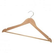 """Вешалка деревянная для одежды """"York"""", светлое дерево, 1 штука в упаковке"""
