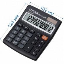Калькулятор настольный Citizen SDC-812BN 12-разрядный 124x102x25мм, черный
