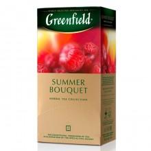 """Чай травянной """"Greenfield"""", серия """"Summer Bouquet"""", 25 пакетиков по 1,5гр, с ароматом малины"""