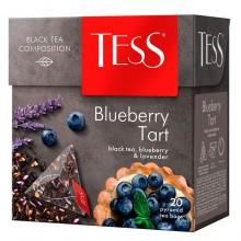"""Чай чёрный """"Tess"""", серия """"Blueberry Tart"""", 20 пакетиков-пирамидок по 1,8гр"""