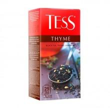 """Чай чёрный """"Tess"""", серия """"Thyme"""", 25 пакетиков, с чабрецом и цедрой лимона"""
