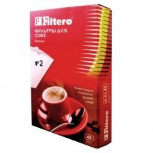 Фильтры для кофе, №2/40, белые Filtero