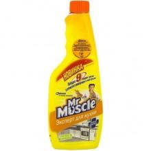"""Чистящее средство для кухни """"Мистер Мускул"""", Свежесть Лимона, 500мл, запасная бутылка"""