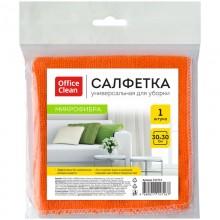 """Тряпка для уборки из микрофибры """"OfficeClean Standart"""", 30x30см, ассорти, 1 штука в пакете"""