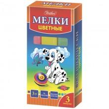 """Мелки """"Hatber"""", 3 цвета, серия """"Далматинцы"""", 3шт в картонной упаковке"""