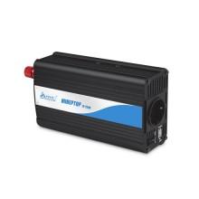 Инвертор, SVC, BI-500, Мощность 500ВА/500Вт, Вход 12В/Выход 220В, 1 вых.: Shuko CEE7, USB-порт 2А, Защита от перегрева, перегрузки, короткого замыкания, Чёрный