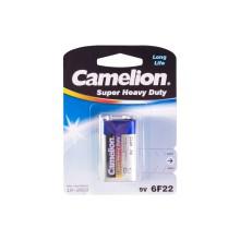 Батарейка, CAMELION, 6F22-BP1B, Солевая, 6F22(крона), 9V, 680 mAh, 1 шт., Блистер