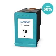 Картридж, Europrint, EPC-40BK, Для принтеров Canon iP1600/2200/6210D/MP150/MP170/MP450/MP210/MP220, 18мл.