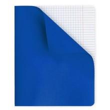 """Тетрадь для записи """"Hatber"""", 48л, А5, клетка, полимерная обложка, на скобе, серия """"Синяя"""""""