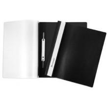 Папка -Скоросшиватель А5ф Berlingo 140/180мкм Черная Пластиковая прозрачный верх