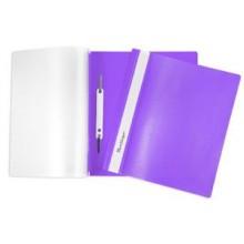 Папка - Скоросшиватель А5ф Berlingo 140/180мкм Фиолетовая Пластиковая прозрачный верх