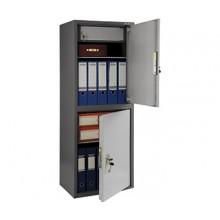 Бухгалтерский шкаф Практик SL-125/2Т, 2 ячейки с ключевыми замками, 2 полки и трейзером