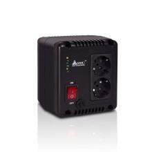 Стабилизатор (AVR), SVC, AVR-1010-G, Мощность 1000ВА/600Вт, Индикация режимов работы, Диапазон работы AVR: 140-270В, 2 вых., Чёрный