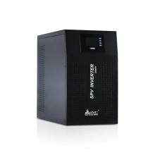 Инвертор, SVC, SPV-L-2000, Мощность 2000ВА/2000Вт, Вход 48В и/или 220В, Выход: от сети 220В+-10%, от батареи 220В+-5%, Диапазон работы AVR 145-275В, Контроллер: встроенный, Чистая синусоида на выходе,  8 типов заряда для различных типов АКБ.