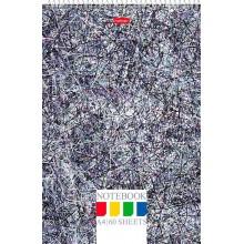 """Блокнот """"Hatber"""", 60л, А4, клетка, лак, жёсткая подложка, на спирали, серия """"Colored Threads"""""""