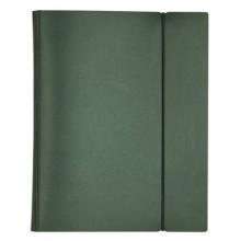 """Тетрадь """"Hatber"""", 120л, А5, на 4-х кольцах, пластиковая обложка, на резинке, серия """"Metallic Зелёная"""