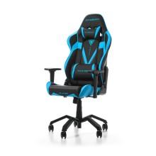 Игровое компьютерное кресло, DX Racer,  OH/VB03/NB, ПУ экокожа, Вид наполнителя: губчатая пена высокой плотности (54 кг/м³), Металлическая основа кресла, Механизм качания: топ-ган, Прорезиненные колеса в комплектации, Чёрный/Синий