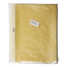 """Файл-вкладыш """"Hatber Eco"""", А4, 40мкм, перфорация, тиснение, жёлтый, 100 штук в упаковке"""