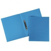 """Папка пластиковая """"Hatber"""", А4, на 2-х кольцах, корешок 25мм, 500мкм, серия """"Line Синяя"""""""