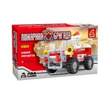 Игровой конструктор, Ausini, 21201, Пожарная бригада, Внедорожник начальника пожарной охраны, 58 деталей, Цветная коробка