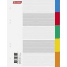 Набор картонных разделителей листов Berlingo А5 цветовой (5 цветов)